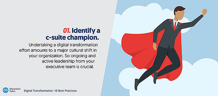 Digital Transformation Best Practices: Identify a C-Suite Champion