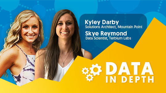 Data in Depth guests Kyley Darby from Mountain Point and Skye Reymond with Terbium Labs discussed Salesforce's Einstein Analytics tool.
