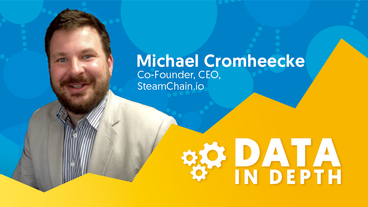 Data In Depth guest Michael Cromheecke from SteamChain discusses machine-as-a-service in manufacturing.