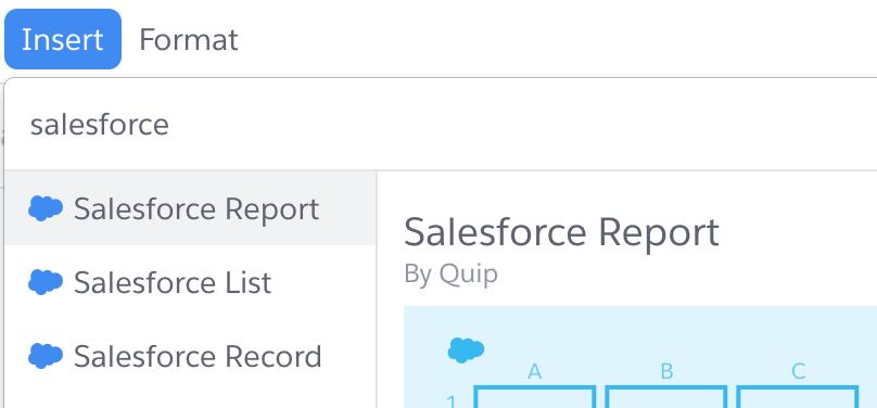 Quip Salesforce Report